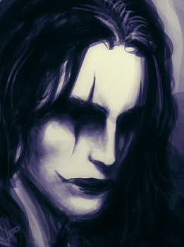 Eric Draven (The Crow) Close-up by Leto4rt