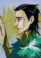 sad Loki by EvnfreedRR