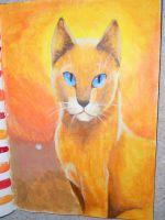 Acrylic painting - Firestar by Finchwing