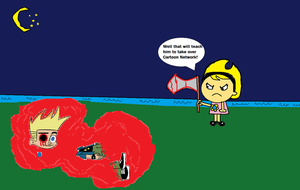 Mandy murdered Johnny Test! by Smurfette123