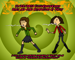 Daria and Jane Hypnotized by Unity by LittleGreenGamer
