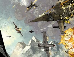 Wild Blue Yonder issue 5 page 4 and 5 Color by nelsondaniel