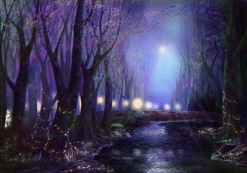 Purple Forest by Bast2