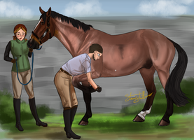 Ause-Olympics Vet Check 2014 by Rosela