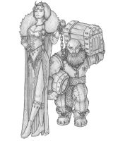 [COMMISSION] Merchant and Slave by s0ulafein