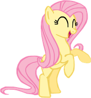Fluttershy rearing up happily. by Flutterflyraptor