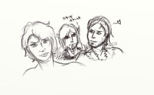 Dragon Age Doodles by SilverDragalos