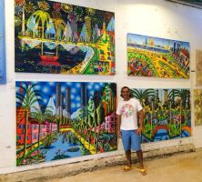 naive paintings on art exhibition of raphael perez by shharc