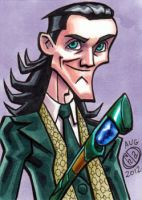 Loki in Stuttgart Sketch Card by Chad73