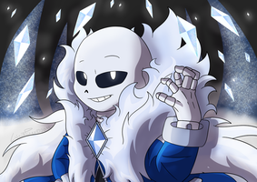 Art Trade - Abyss!Sans by LonicHedgehog