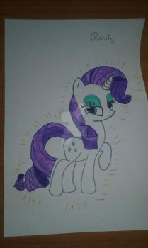 Rarity Drawing by AMDEMBOG123