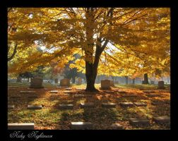 Autumn Cemetery by NickyNightmare