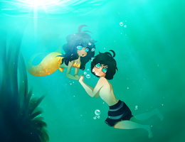 The little mermaid by Desufy