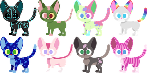 Cat adoptables by AdolfWolfed4Life
