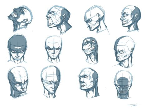 Head-Face-Shadow practice by munchkin-t