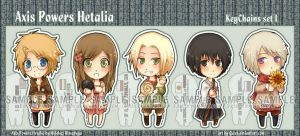 APH chibiKeychains set I by Quiss