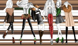 Fashion models autumn by Fashiodesart