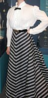Striped 1905 circle skirt by ProfessorBats