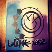 Blink 182 spray paint logo by chifferroo