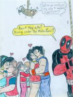 Xmas - Deadpool and Christmas Couples by Jose-Ramiro