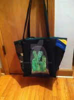Upcycled Superman T-shirt Bag - Back by snowtigra