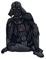 Darth Vader chilling by flaming-trout