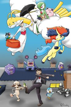 Mary Poppins and Bert's Pokemons by VibaFleischer