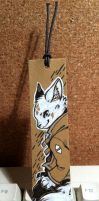 Commission - White fox bookmark by Mi-eau