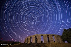 Star Trails at Maryhill Stonehenge by djniks97