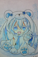 Polar Bear Miku!!!!! by snowflakeflower9