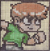 Scott Pilgrim Pixel Post-it by The-Paxman