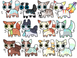Cat Adoptables - OPEN - 25 Points Each! by catpaths