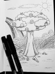 Inktober-smiley tree by SugoiMe