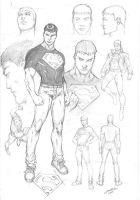 Superboy Character Study by comiconart