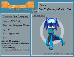 SLC: Sky X. Shotler 15th Official Profile by Jayronzski