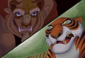 Disney Brawl - Beast vs Shere Khan -- Beast WINS by NostalgicChills