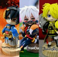 Touken Ranbu Clay Figures by yonkairu