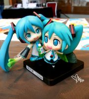 Chibi Miku Duo by coffeejelly