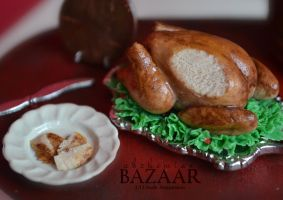 Roasted Turkey 1:12 Scale by abohemianbazaar