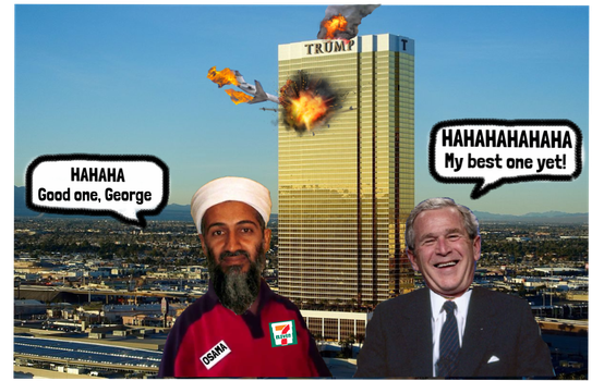 Osama and George up to old tricks again by Redd-Rockett