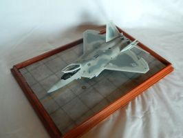 F-22 Raptor Top View by Kingtiger2101
