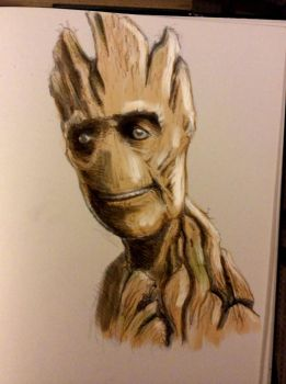 Daily Sketch - Groot Colour by Snazz84