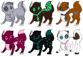 Adoptable cats 2 1 Left by Jingle2626