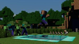 Minecraft 3D Pooljump by Alz512