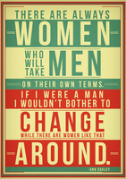 Ann Oakley Typographic Poster by RicGrayDesign