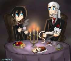 Dan and Vlad - Tea Time by HezuNeutral