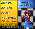 Commissions [Points and PayPal] [OPEN]!! by Captain-Pissoff