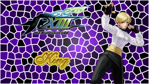 KOF XIII King PSP Wallpaper by WhiteAngel50000
