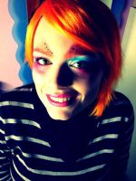 Mad hatter girl's makeup by Owlnuny