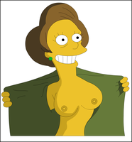 Edna Krabappel Flashing by xvqwertyvx